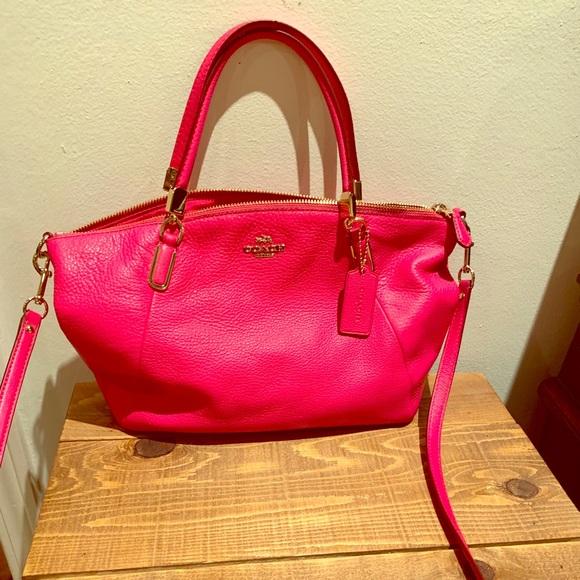 Coach Handbags - Coach pink crossbody purse